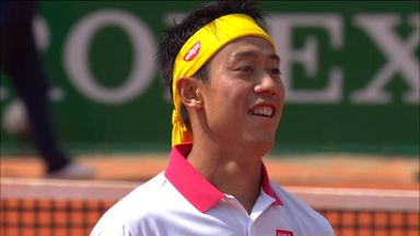 Nishikori's lightning reactions