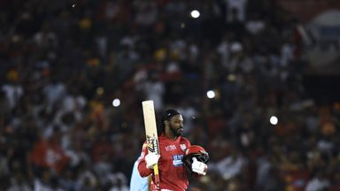 Gayle smashes sixth IPL hundred