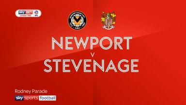 Newport County 0-1 Stevenage