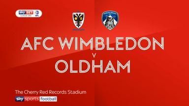 AFC Wimbledon 2-2 Oldham