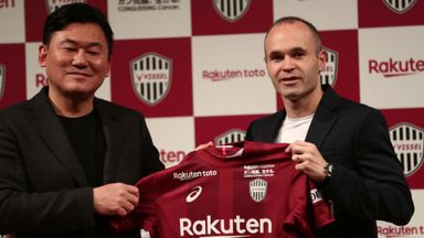Iniesta joins Japan's Vissel Kobe