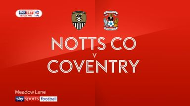 Notts County 1-4 Coventry