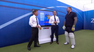 Quinnell versus bowling machine!