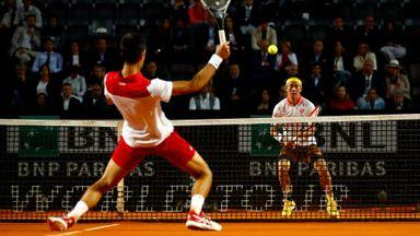 Rome: Nishikori v Djokovic