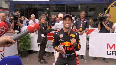 Ricciardo's victory dance