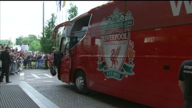 Liverpool arrive in Kiev