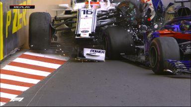 Leclerc smashes into Hartley