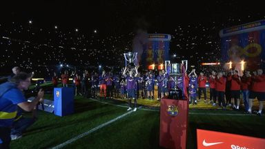 Iniesta lifts La Liga Trophy