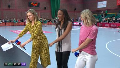 Netball presenters do the floss