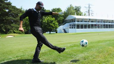 Pep plays footgolf at Wentworth!