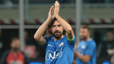 Goals galore in Pirlo testimonial