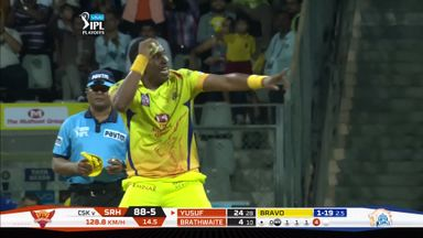 Bravo takes superb caught-and-bowled