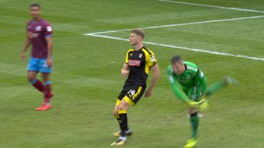 Keeper suffers bizarre injury