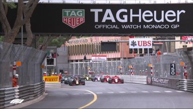 First lap action in Monaco