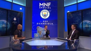 Pep gives Neville a City shirt
