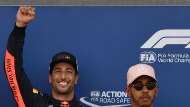 Hamilton happy for Ricciardo