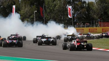 Huge crash on Spanish GP first lap
