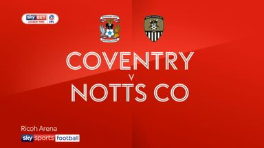 Coventry 1-1 Notts County