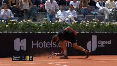 Thiem destroys racket!