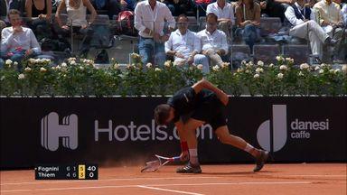 Thiem destroys racket!