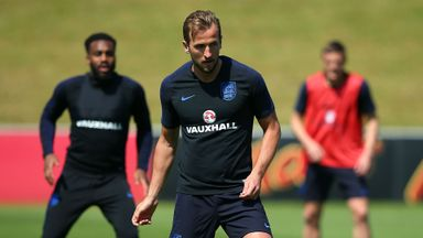 Captain Kane features in England training