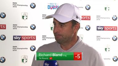 Bland happy with Wentworth lead