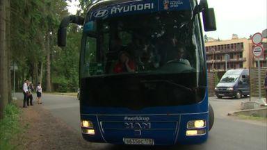 England depart for Volgograd