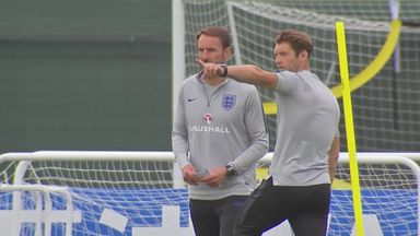 England train in Repino after Tunisia win