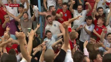 Fan zones erupt after Kane winner