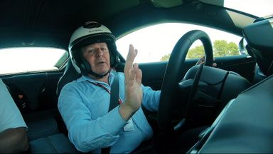 Brundle drives the circuit