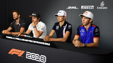 Drivers' Press Conference - France