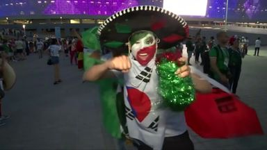 Mexico reacts to South Korea win