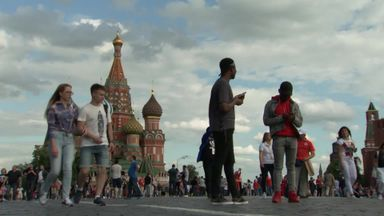 World Cup fans in Moscow