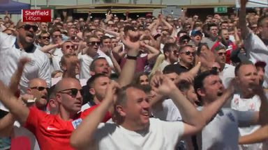 England fans celebrate in style!