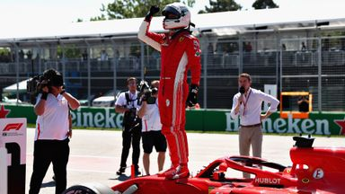 Vettel on pole for Canada