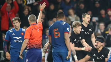 Ref blocks French defender!