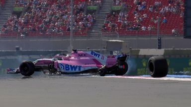 Perez's wheel falls off!
