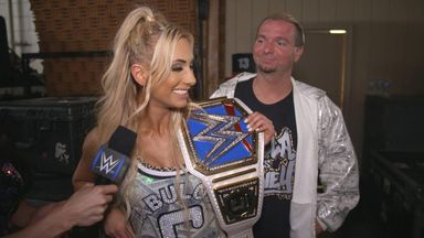 Carmella celebrates with Ellsworth