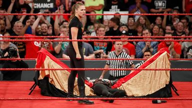 Rousey suspended after attacking Angle
