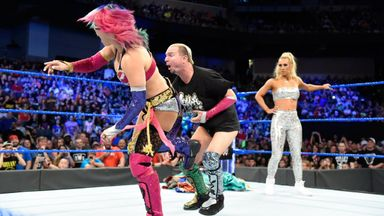 Asuka confronts Carmella & Ellsworth