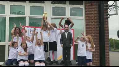 Primary school's catchy England chant