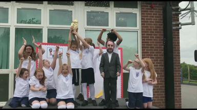 Primary school's catchy England chant