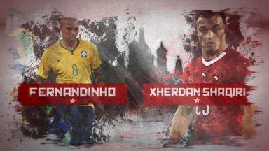 Russia 2018: Fernandinho v Shaqiri