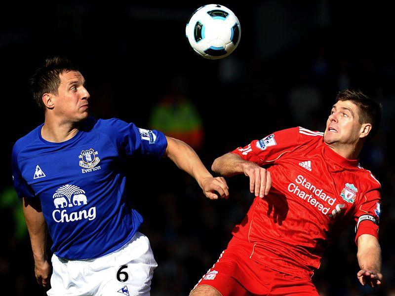 Gerrard and Jagielka EFC vs LFC