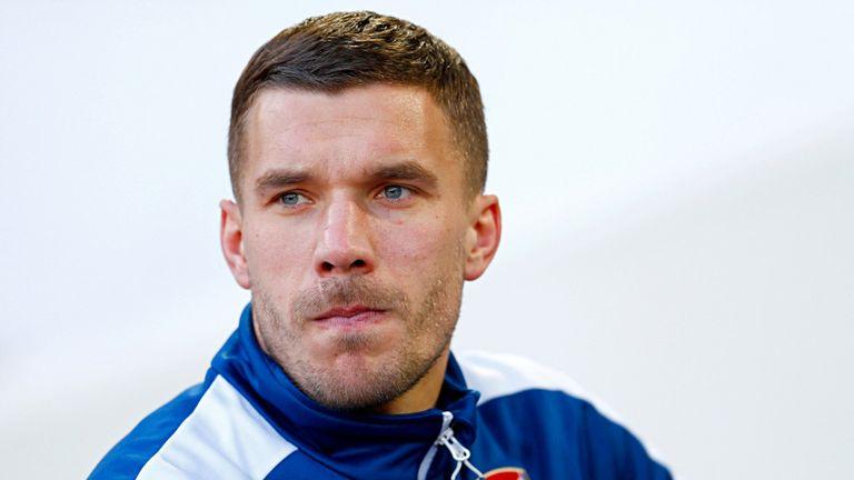 Arsenal forward Lukas Podolski